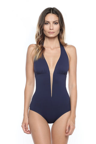 Caprice d'Été Retro Swimsuit in Marine