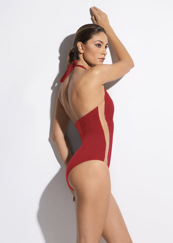 Sunrise in Seychelles Swimsuit in Red