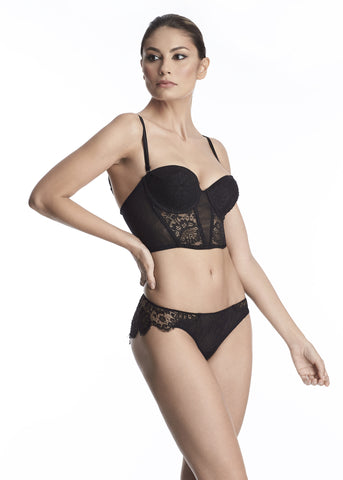 Moulin Rouge Underwired Balconette Bra in Black