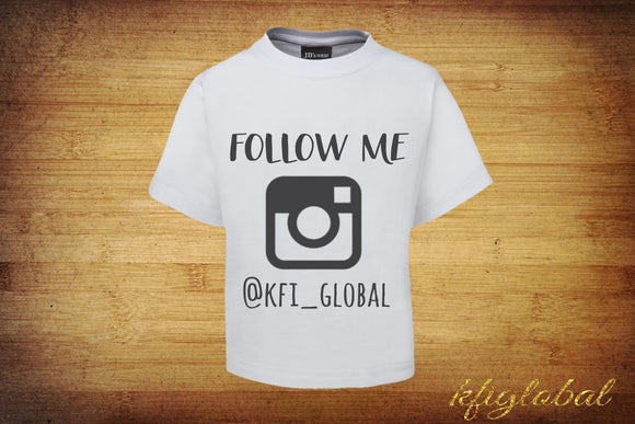 Adult Brand Rep Shirt - Follow - Instagram - customizable - brand enthusiasts - rep life