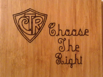 Wood Plaque Choose The Right