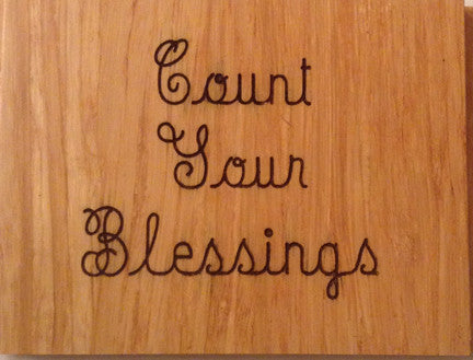 Wood Plaque Count Your Blessings