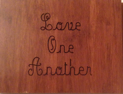 Wood Plaque Love One Another