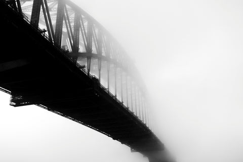 Sydney, harbour bridge, fog, NSW, Australia, beautiful, photo, print, prints, photography, design, interior, framing, styling, phresh
