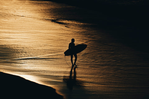 waiting, surfer, sunrise, sillhouette, beautiful, photo, print, prints, photography, design, interior, framing, styling, phresh