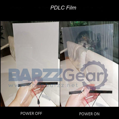 220V Switchable Electric atomization white opaqu Self-adhesive PDLC smart Film Window Door A4 samples for rear projection screen