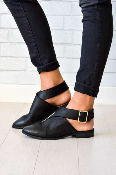 El Dorado Wrap Flats in Black
