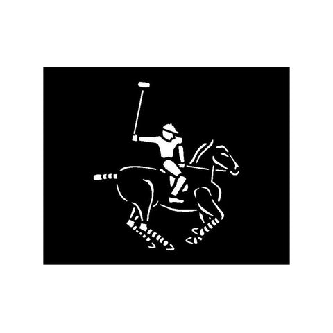 Paint Stencil - Polo Horse and Rider