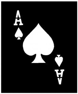 Stencil - Ace of spades