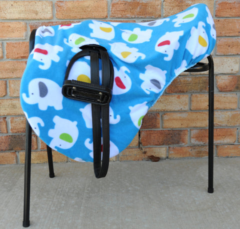 Ride-on fleece saddle cover