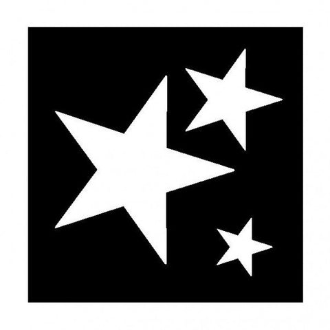 Clipping stencil - assorted stars