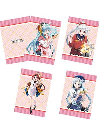 Fate Grand Order Girls Ver. AnimeJapan 2019 Character Clear File Set 4 PCS FGO