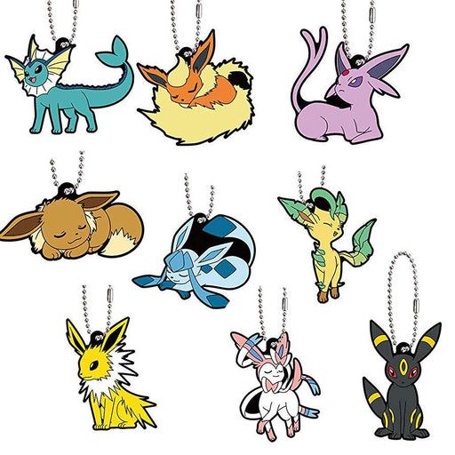 Pokemon Eevee Special - Character Capsule Rubber Key Chain Mascot Ver.2