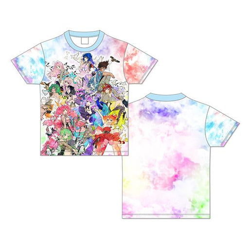 Macross Crossover Live 2019 Marble Patterned Character Full Graphics Color T-Shirt