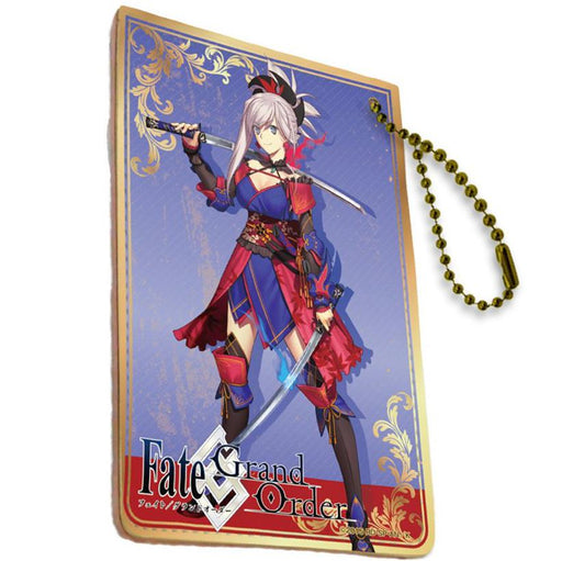Fate Grand Order Saber Miyamoto Musashi Full Color Ball Chain Pass Case FGO