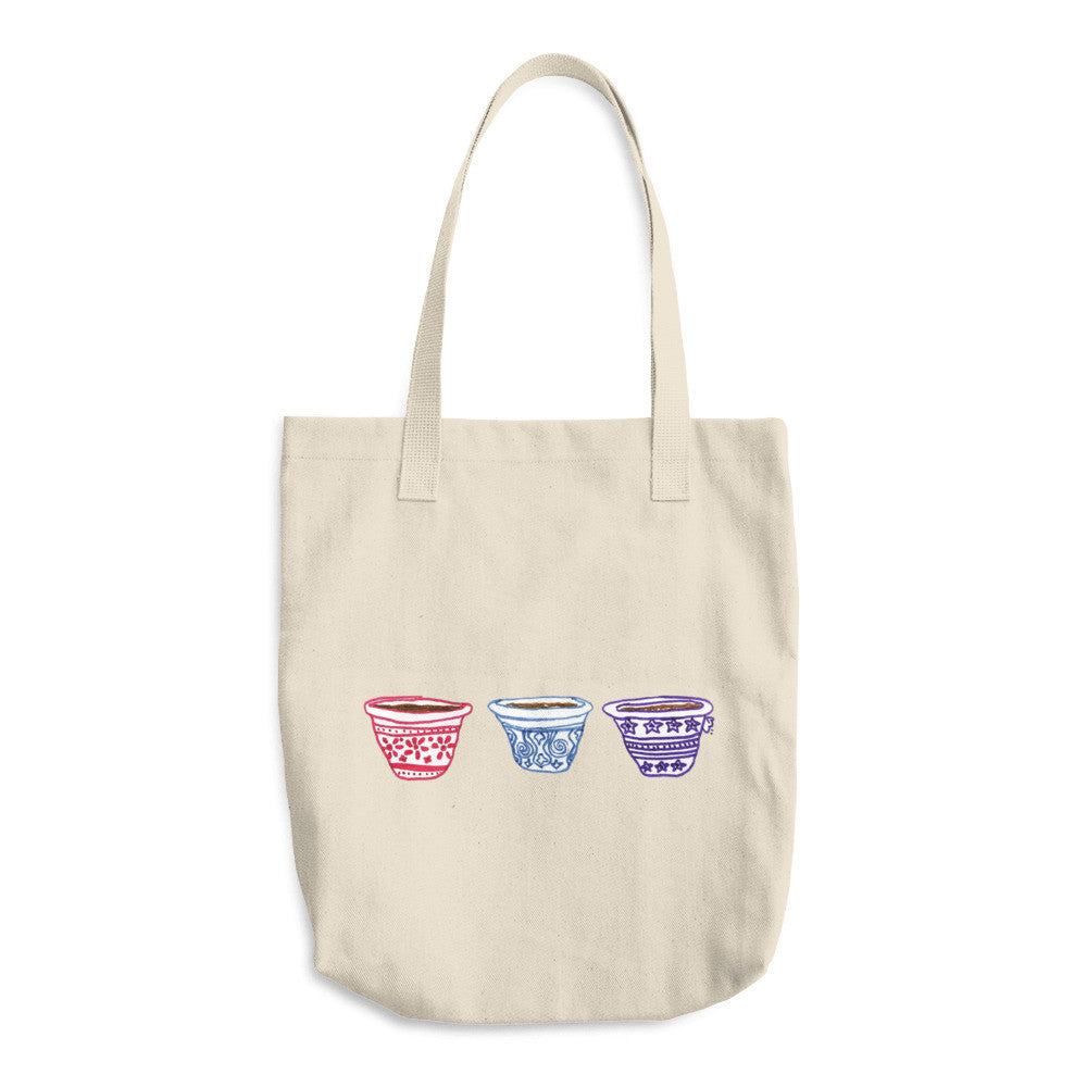 Arabic Coffee Cups Arabic Tote Bag