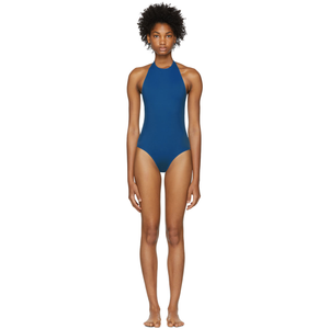 Blue 50+ UV protection swimsuit @ssense - Hominems