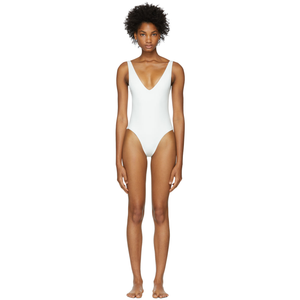 White 50+ UV protection swimsuit @ssense - Hominems