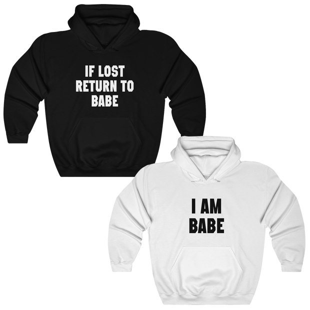 If Lost Return To Babe Couples Hoodies