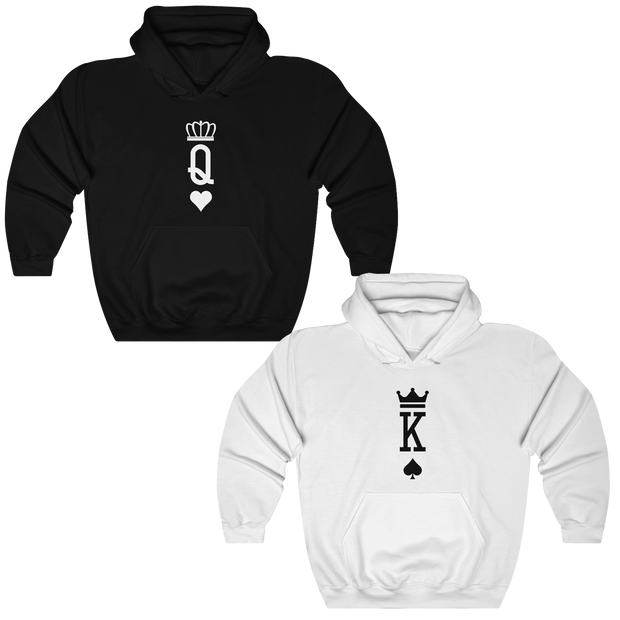 Queen & King Poker Cards Couples Hoodies