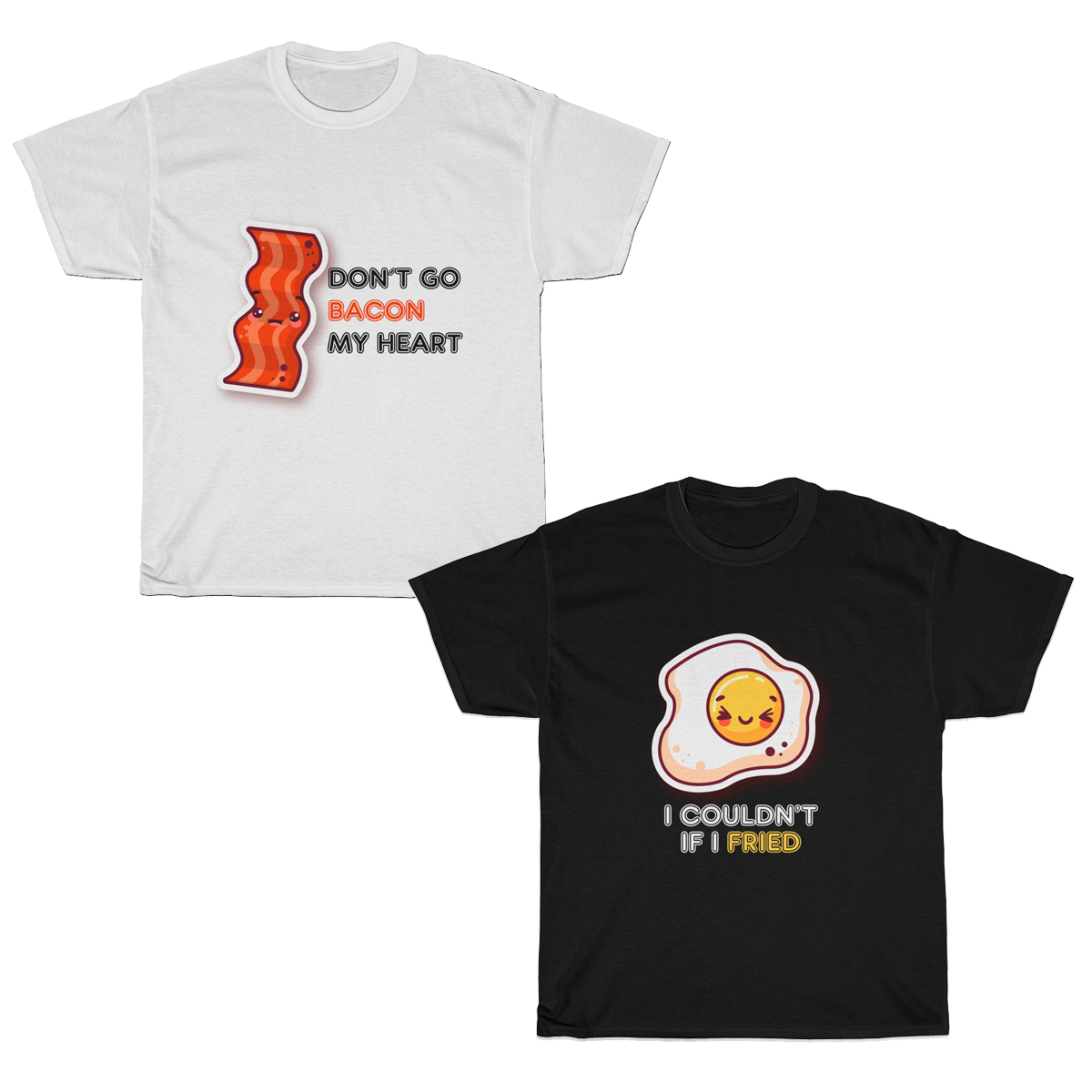 Perfect Match Bacon & Egg Couples T-Shirt Set