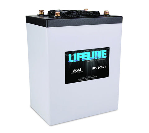Lifeline GPL-6CT-2V - 2v - 900AH Deep Cycle Battery
