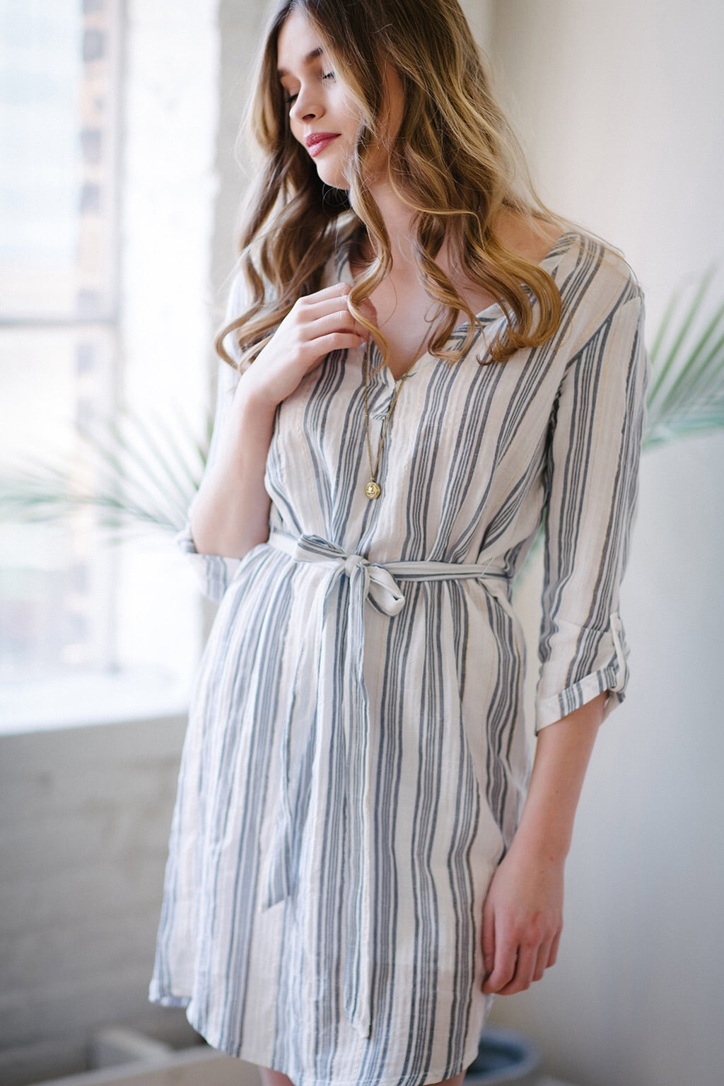 KOKOON Sussex Cotton Shirtdress Front 2