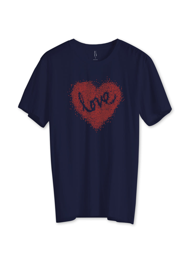 Scattered Hearts Crewneck Tee