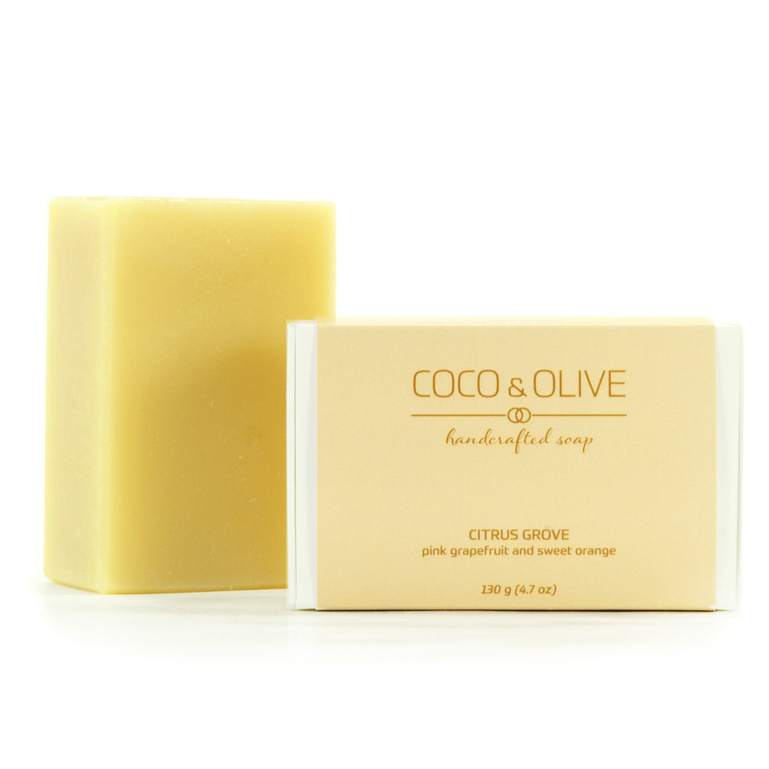 Coco & Olive Citrus Grove luxury handmade soap. Bring the luxury of the spa home.