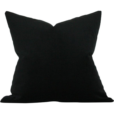 Black Performance Velvet Custom Designer Pillow | Arianna Belle