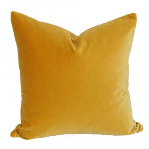 Golden Yellow Velvet Custom Designer Pillow | Arianna Belle