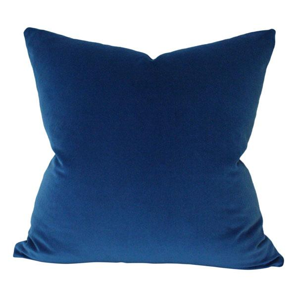 Marine Blue Velvet Custom Designer Pillow | Arianna Belle