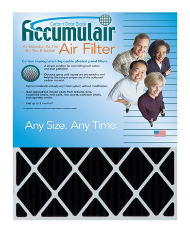 16.5x21x2 Accumulair Furnace Filter Carbon