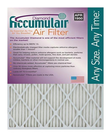 16.5x21x2 Accumulair Furnace Filter Merv 13