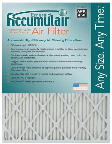 15x30x2 Accumulair Furnace Filter Merv 6