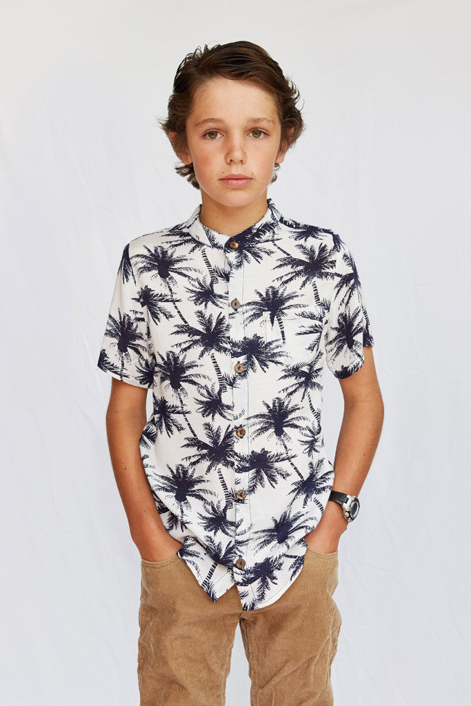 Ryan Short Sleeve Shirt - Palm Tree
