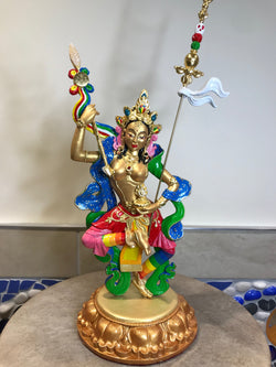 Buddhist Statue-Princess Mandarava (Made to Order)~Gold/rainbow