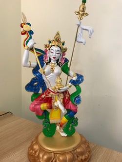 Buddhist Statue-Princess Mandarava (Made to Order)~ white/rainbow