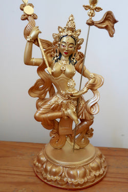 Buddhist Statue ~ Princess Mandarava ~ Gold on Gold