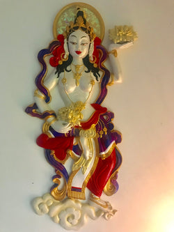 Floating goddess ~ golden white red &purple