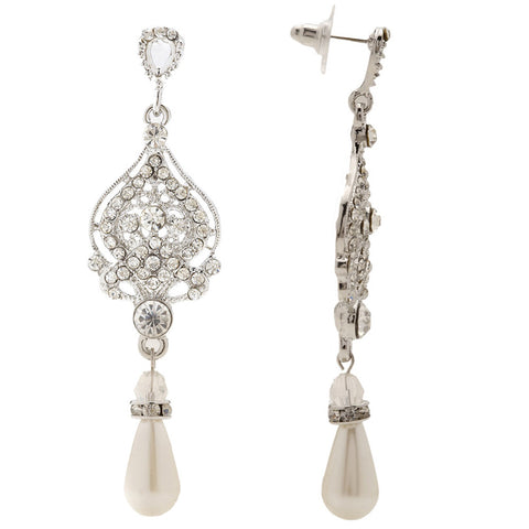 Destiny Vintage Victorian Crystal Earrings - Bella Krystal