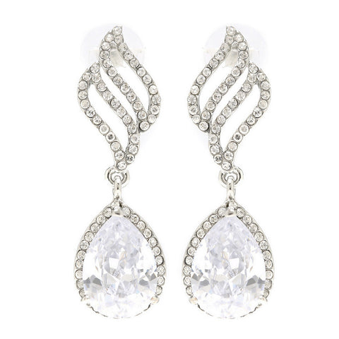 Eleanor Classic Crystal Drop Earrings - Bella Krystal