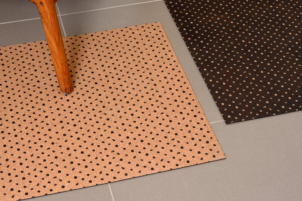 POLKA BLACK DOT PATTERN RUG