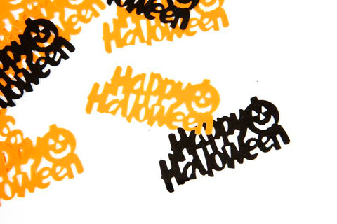 confettis de table happy halloween