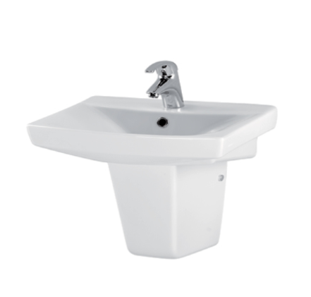 Carina 500mm Basin Sink with Full/ Semi-Pedestal