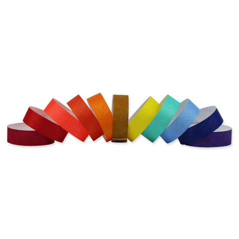 "Tytan-Band® 3/4"" Tyvek Wristbands NTS Adhesive Closure - 500/Pack - Wristbands.com"