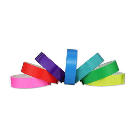 "3/4"" Vinyl Wristbands Vibrant Waterproof VSP (500/Box) - Wristbands.com"