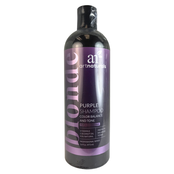 Artnaturals Purple Shampoo Color Balance and Tone For Bleached Hair 16 oz.