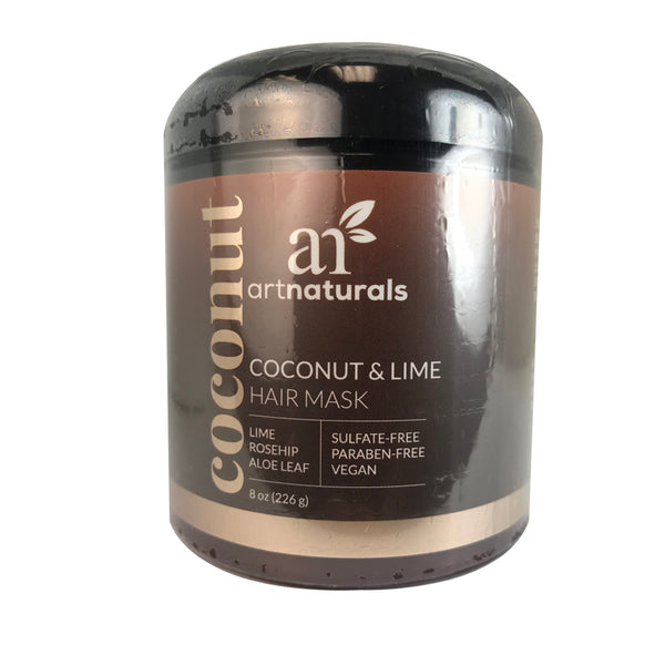 Artnaturals Coconut Lime Hair Mask 8 oz Sulfate Paraben Free - Vegan