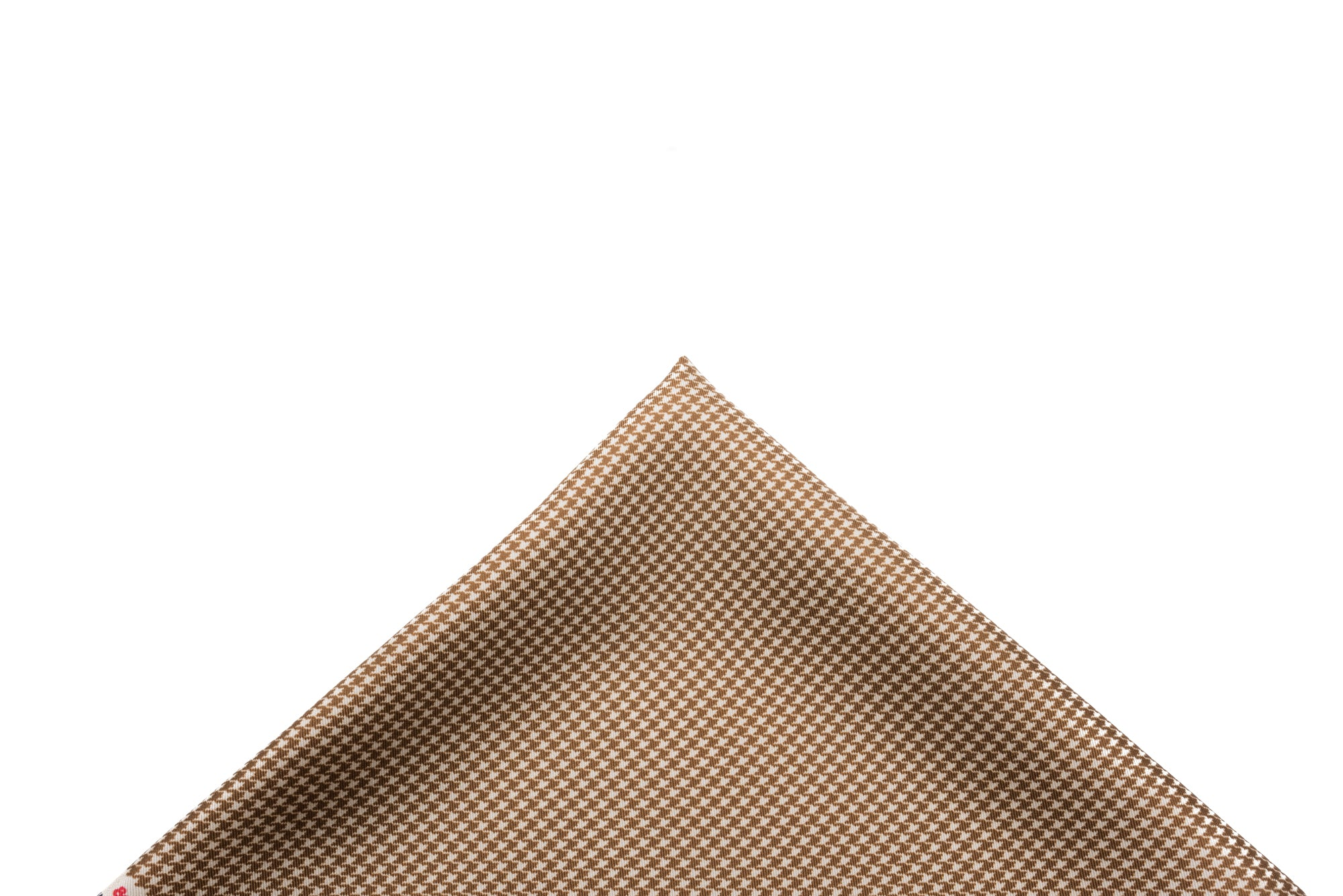 Pocket Square Brown-Cream Micro Houndstooth
